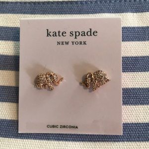NWT! Kate Spade Elephant Stud Earrings